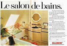 PUBLICITE ADVERSTISING   1980   ALLIBERT   le salon de bains  ( 2 pages)