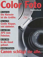 Sonderdruck Color Foto 1/97 Canon Ixus EOS IX 500 N SLR Autofokus reprint 1997