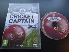 INTERNATIONAL CRICKET CAPTAIN 2012 PC V.G.C. FAST POST ( cricket management game