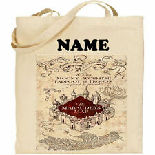 Harry Potter Marauder's Map Personalised Tote Bag Hogwarts Any Name ideal gift