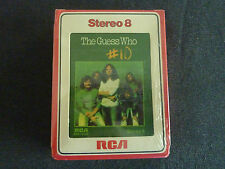 THE GUESS WHO # 10 ULTRA RARE NEW SEALED 8 TRACK CASSETTE TAPE!