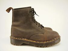 1990s DR. MARTENS Vintage English-made Waxy Leather Grunge Boots UK 7 - US 9