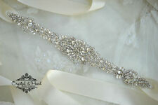 BOXED MIA BRIDAL SASH, UK Bridal Belt, Wedding dress sash, Wedding Dress Crystal
