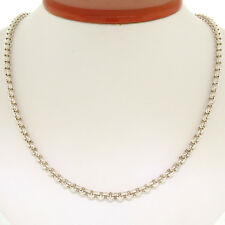 "Made in USA Solid .999 Pure Silver 20"" 4.15mm Heavy Rolo Link Chain Necklace 25g"