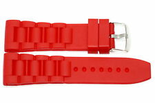 RED 26MM SOFT RUBBER SILICONE COMPOSITE SPORT LINK WATCH BAND STRAP FITS INVICTA