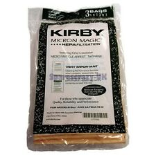 9 GENUINE KIRBY MICRON MAGIC VACUUM BAGS G6 G5 G4 G3 With 1 Non-Genuine Belt