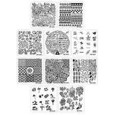 Bundle Monster 10pc Nail Art Manicure Stamping Plates - Hangloose Collection