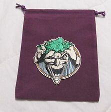 DC Dice Masters World's Finest Justice League PURPLE JOKER Drawstring DICE BAG