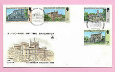 GUERNSEY 1976 Mercury FDC - BUILDINGS OF THE BAILIWICK - Unaddressed - H/stamped