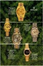 1987 VINTAGE ROLEX Brochure Leaflet OYSTER PERPETUAL DAY-DATE TRIDOR Gold 18038
