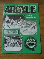27/08/1983 Plymouth Argyle v Wigan Athletic  (Creased, Torn On Back).