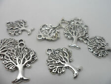 20 x Antique Silver~Tree Of Life Charms.22x17x2mm,Lead & Cadmium Free