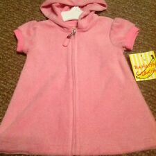 Banana Cabana Size 12 Months Girl Pink Terry Cloth Coverup With Hood NWT