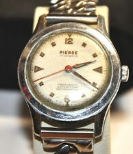 PIERCE MILITARY WRIST WATCH 17 JEWELS RUNS FOR PARTS/REPAIRS #W15