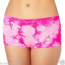 St. Eve Pink Tie Dyed Boyshort Panty Underwear Juniors Sz MEDIUM NWT Fun Flirty