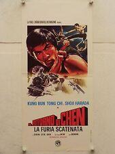 IL RITORNO DI CHEN arti marziali regia Chan Hong Man locandina orig. 1973