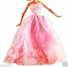 Hot Handwork soft Princess Party Dress/Evening Clothes/Gown For Barbie Doll  089