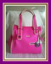 Authenic Juicy Couture Ms Daydreamer Neoprene Neon Pink Large Tote Purse Bag