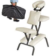 Chaise de Massage Tatouage Pliante et Transportable en Beige Rembourrage épais