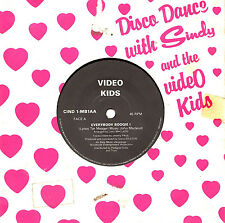 "CINDY AND THE VIDEO KIDS - EVERYBODY BOOGIE! - FRENCH PRESSING 7"" 45 RECORD"