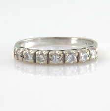 18ct 18K White Gold Seven Stone Diamond Half Eternity Ring Size J Stamped 750