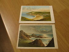 TWO OLD UNPOSTED Jersey Postcards Greve De Lecq/L'Etacq St Ouen Channel Islands