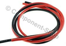 10AWG Silicone Wire Super flexible high temperature 1m Red & 1m Black. UK seller