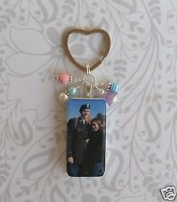 Custom Photo Key Chain Personalized Image Domino Charm Keepsake Memorial Heart