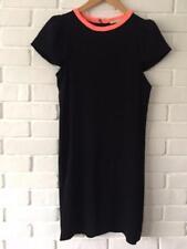 Maje noir ashley shift robe avec rose vif col taille 2 uk 10 us 6