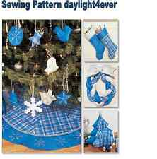 Christmas Decorating Tree Skirt Stocking Ornament Sewing Pattern 3777 New   n