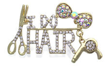 I DO HAIR Scissors Hair Designer Stylist Brooch Pin Beauty Hair Salon Jewelry