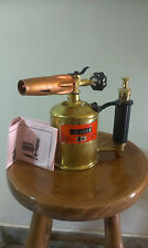 Max Sievert Petrol Blowtorch Blowlamp Brass Antique Unused Gasoline