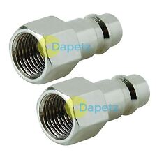 "2 Quick Release Euro Female Compressed Air Line Coupler Connector Fit 1/4"" BSP"