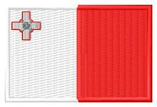 Flag Malta Bandera de Malta Parche bordado Thermo-Adhesivo iron-on patch