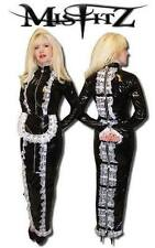 MISFITZ BLACK PVC PADLOCK STRAITJACKET HOBBLE MISTRESS MAIDS DRESS SIZE 24(EU52)