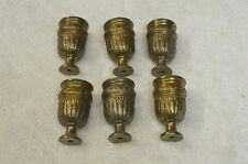 Set of 6 decorative Lamp Candle Cups  Antique Brass Finish Vintage