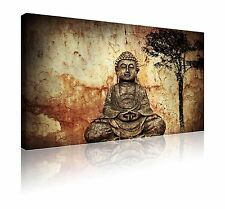 "Large tranquil Buddha zen image wall art canvas picture FREE p&p 20"" x 30"""