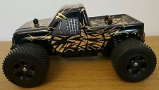 LARGE MONSTER TRUCK RECHARGEABLE Radio Remote Control Car FAST SPEED 1:16  BLACK