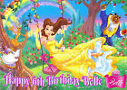 DISNEY Princess Belle Beauty and the Beast Happy Birthday A4 ICING Cake Toppers