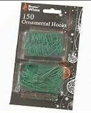 150 Green Small/Large Christmas Bauble Hooks (PM132)