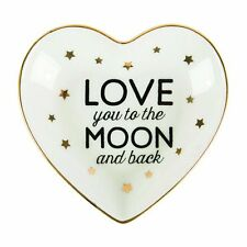 Sass and Belle Ceramic Love you to the Moon and Back Jewellery  and ring dish