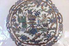 Antique Chinese Hand Embroidered Blind Stitch & Metallic Thread Medallion c1890*