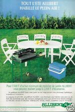 Publicité advertising 1991 Les Salons meubles de jardin Allibert