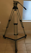 Vinten Vision 10 Single Stage Tripod Fluid Head With Manfrotto 127 Dolly