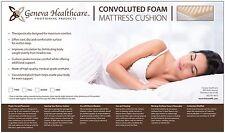 """Geneva Healthcare Egg Crate Convoluted Foam Mattress Pad 3"""" Topper Twin Size"""