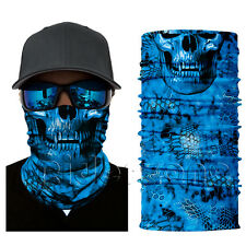 Motorcycle Balaclava Buff Neck Tubes Camo Hydro Skull Face Shield Sun Mask