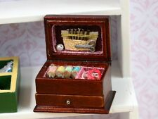 Needle work Box, Dolls House Miniature Sewing Room 1/12 Scale