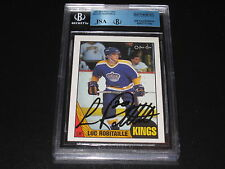 LUC ROBITAILLE AUTOGRAPHED 1987-88 O-PEE-CHEE ROOKIE CARD-JSA/BGS SLAB