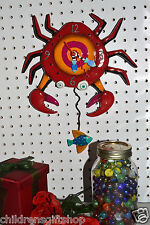 Michelle Allen Designs Crab Clock Crabby Whimsical ship PRIORITY MAIL in 24 hrs