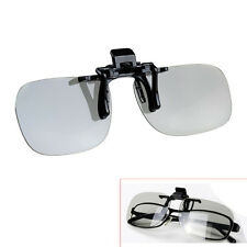 Clip on Polarized Circular 3D Glasses for Passive Home TV IMAX Cinema Movie Film